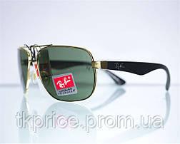 Мужские солнцезащитные очки линза-стекло качественная реплика Ray Ban, фото 3