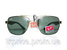 Мужские солнцезащитные очки линза-стекло качественная реплика Ray Ban, фото 2