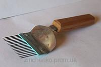 Вилка прямые иглы деревянная ручка, длина-210мм