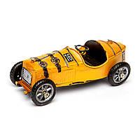 Модель гоночного ретро автомобиля желтый 8324