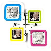 Необычные настенные часы фото коллаж на 4 фото