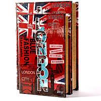 """Шкатулка книга """"London"""" красная большая"""