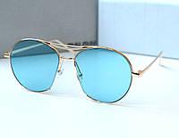 Очки женские от солнца Linda Farrow Monic голубые, магазин очков