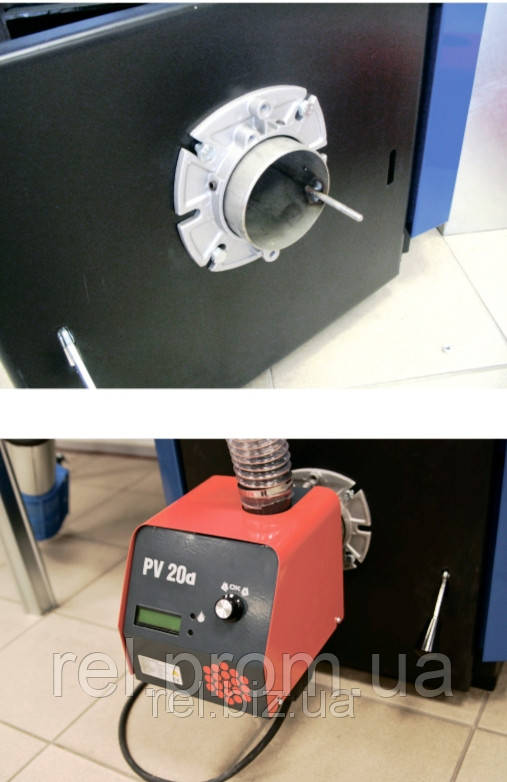 Простое и быстрое присоединение пеллетной горелки PV20a к котлу