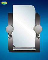 Зеркало 067 графит с 2 бра