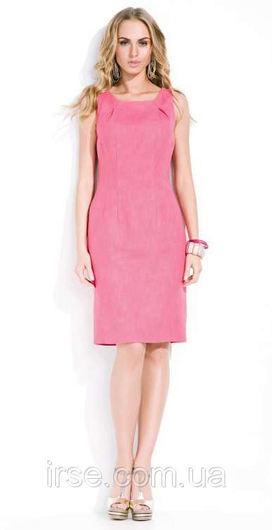 Летнее платье из хлопка розового цвета в офисном стиле. Модель Enrica Zaps.