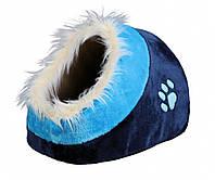 36309 Trixie Minou Blue Лежак-пещера, 35x26x41 см