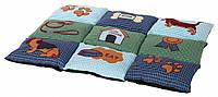 37069 Trixie Подстилка Patchwork Синий/зеленый, 80x55 см