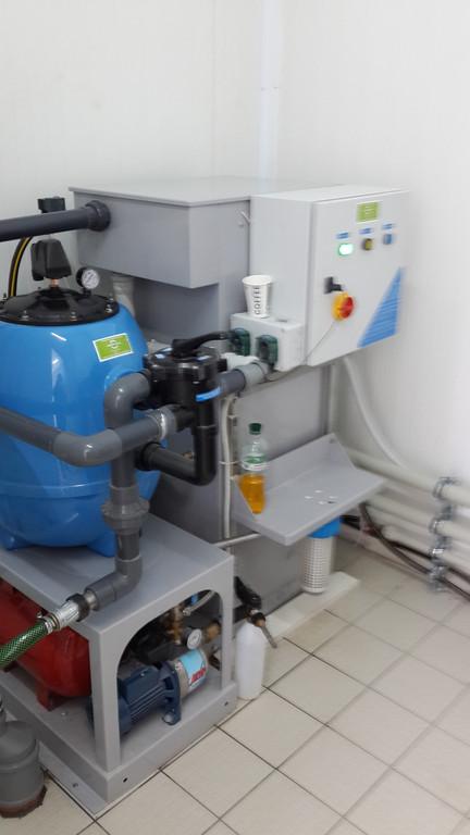 установка станции очистки и регенерации воды