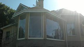 Мягкие окна ПВХ на веранде частного дома