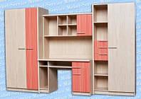 Денди мебель для детской (Мебель-Сервис)  3000х560х1950мм , фото 1