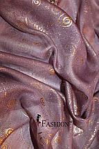 Платок женский с золотым напылением Фиолетовый, фото 2