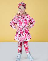 Демисезонное пальто для девочки Lenne ROOSI 17235 цвет 1700. Весна 2017