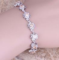 Женский серебряный браслет с морганитом