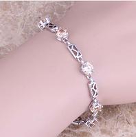 Женский серебряный браслет с морганитом, фото 1