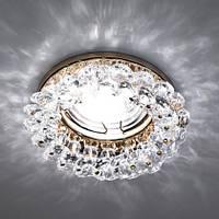 Встраиваемый декоративный светильник с кристаллами Feron CD4141 прозрачный-золото