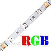 Светодиодная лента SMD 5050 30 светодиодов/метр RGB (открытая), фото 1