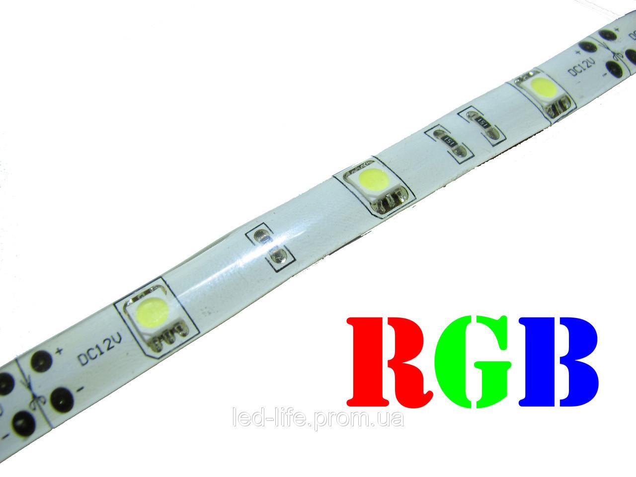 Светодиодная лента SMD 5050 30 светодиодов/метр RGB (герметичная)