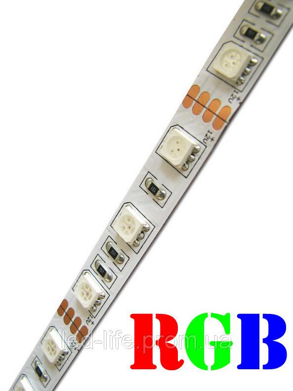 Светодиодная лента SMD 5050 60 светодиодов/метр RGB (открытая)