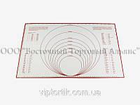 Силиконовый коврик с разметкой 40х60 см