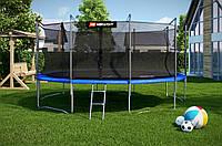 Батут Hop-Sport диаметром 488см (16ft) спортивный для детей с лестницей и внутренней сеткой
