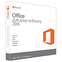 Программная продукция Microsoft Office 2016 Home and Business Ukrainian (T5D-02734)