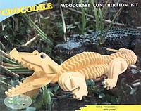 """Сборная 3D модель """"Крокодил"""" (3 пластины)"""
