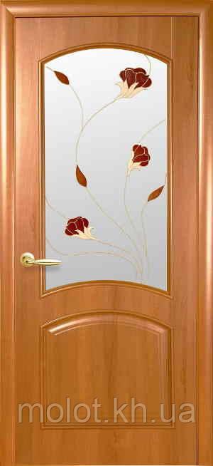 """Межкомнатные двери """" Антре со стеклом сатин и рисунком Р1  """""""