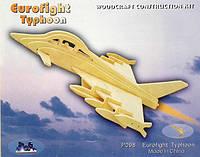 """Истребитель """"Тайфун"""" - деревянная 3D модель (3 пластины)"""