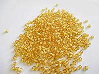 Бісер (бисер) MATSUNO Японія  11 RR 100 грам, № 1/218, золотистий промальований