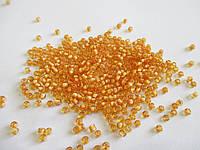 Бісер (бисер) MATSUNO Японія  11 RR 100 грам, № 1/212, золотисто-оранжевийпромальований