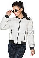 Женская куртка - бомбер белая, фото 1