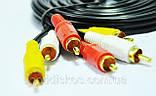 Аудио-видео кабель, MYE Audio/Video cable, тюльпан — тюльпан, 3RCA-3RCA, 5м, фото 4