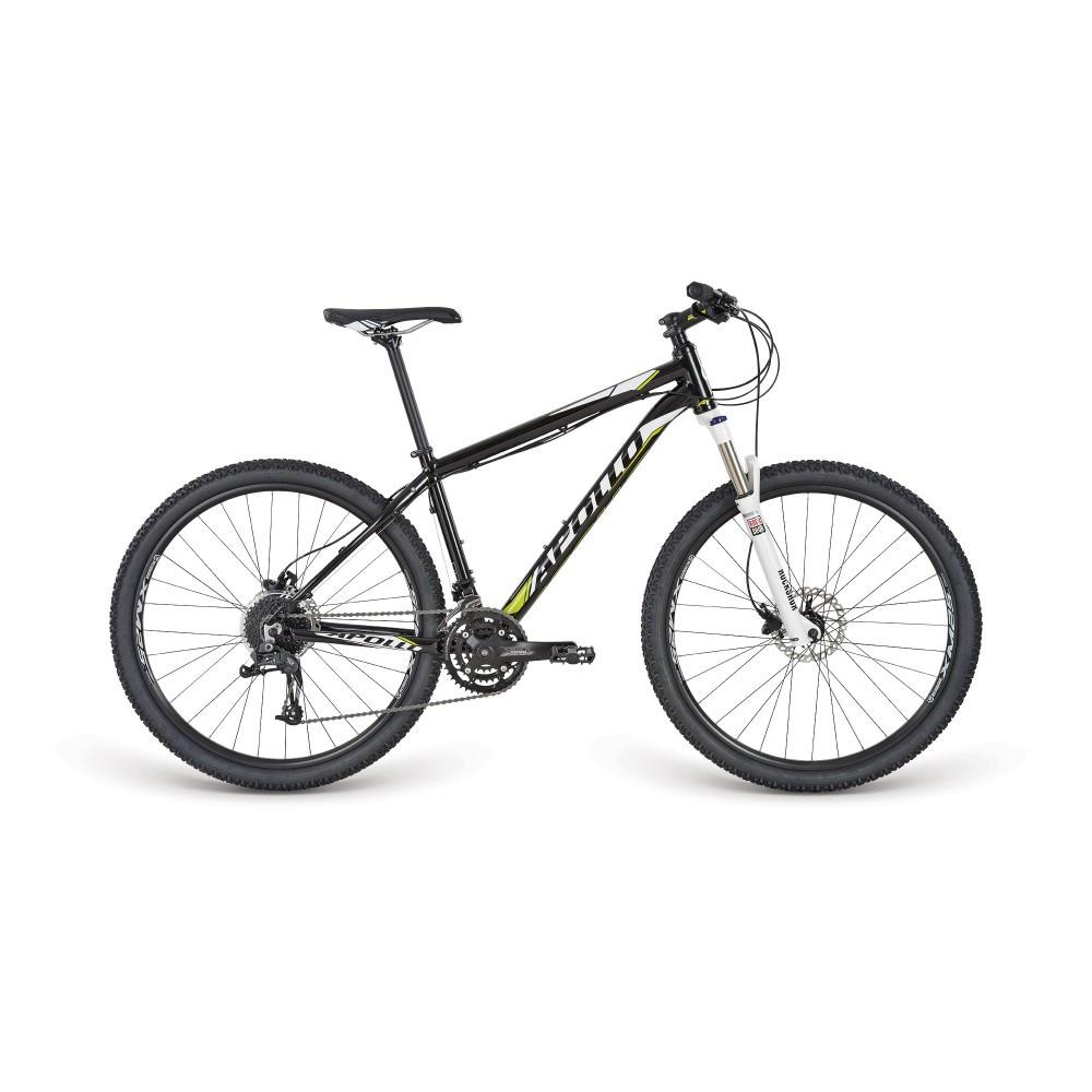 "Велосипед 27,5"" Apollo Aspire 40 рама - L 2017 Matte Black/Gloss Black"