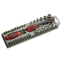 Набор бит и торцевых головок с трещоткой и удлинителем Pro'sKit SD-2307M