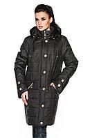 Женская длинная куртка больших размеров