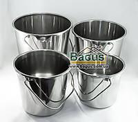 Набор ведер из нержавеющей стали (4 шт./наб.) без крышек Empire (EM-5044)