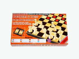 Игра 3в1 магнитная 30см*30см(шашки+шахматы+нарды)