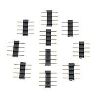 10x Коннектор для светодиодной RGB ленты 4pin