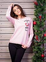Стильная бледно-розовая женская кофточка