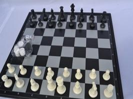 """Игра """"3 в 1"""" магнитная, подарочная. Шашки, шахматы, нарды.36х36 см"""