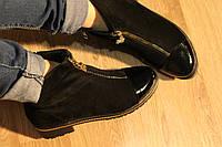 Ботинки с лаковым носком