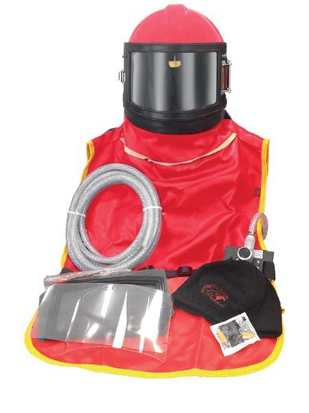 Апарат сжатого воздуха (шолом для абразивної обробки піском) RESIN RN-AWSP-RES-4G