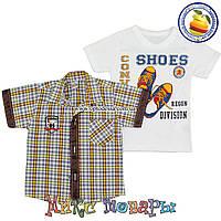 Рубашка короткий Рукав и Футболка для мальчика от 1- 4 лет (5065-1) (Рисунок на футболке может меняться)
