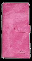 Оригинальный женский кошелек YA MEI сиреневого цвета на кнопке NNB-080500