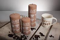Декоративная дизайнерская свеча  Caffe светлая 70/130mm