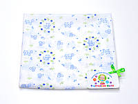 Ситцевая  пеленка (белая с голубыми котиками)