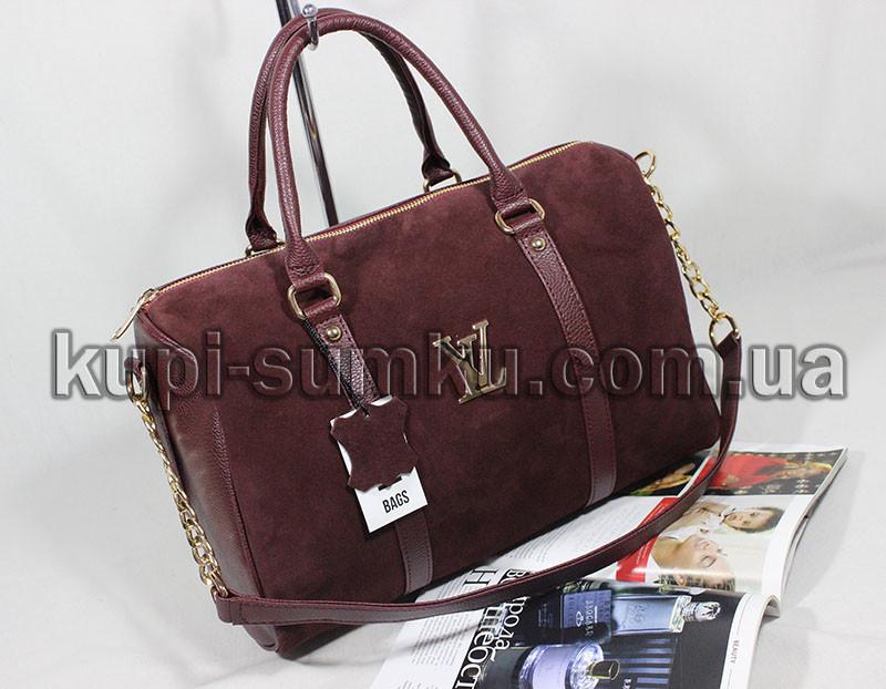 b68e5070491a Модная замшевая сумка цвета марсала (бордо) - Интернет-магазин