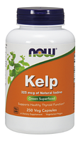 Ламинария, Келп, Йод Now Foods, Kelp, 325, mcg 250 vcaps