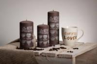 Декоративная дизайнерская свеча  Caffe темная 70/130mm